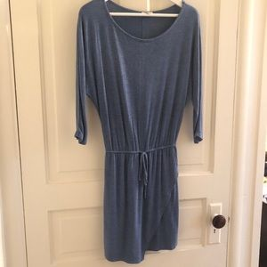 Splendid blue xs drawstring waist dress